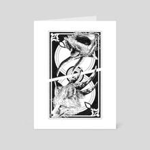 Fox/Raccoon card - Art Card by Anaïs Faë