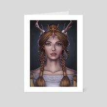 Portrait - Art Card by gloria ocete