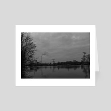 City river. - Art Card by Pierre Henrion