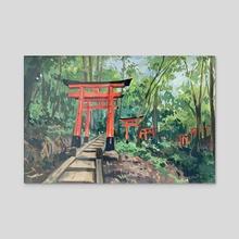 Fushimi Inari Taisha, Kyoto - Acrylic by Jenny Xia