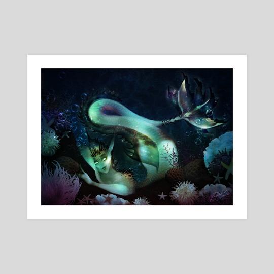 Sweet Coral Siren - Mermay 3, 2021 by PaowHer Art