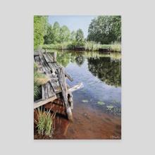 Bergshamra Creek - Canvas by Evelina Minotta