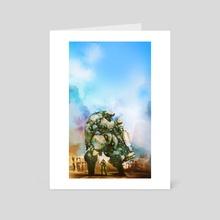 Beauty and the Thirty Ton Beast - Art Card by Aaron Nakahara