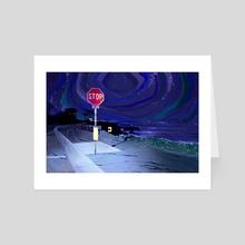 Stop Sign - Art Card by Eddy Sailer