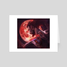 Bloody moon - Art Card by Ssara P. Selvik