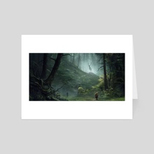 Meeting in the wood - Art Card by Sergey Averkin