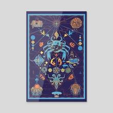 Ocean Map - Acrylic by Antoine  Doré