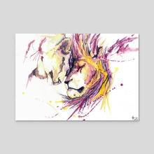 Lions Love - Acrylic by Manu Mau
