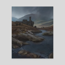 Ghosts at the Castle  - Canvas by Miranda Moorhead