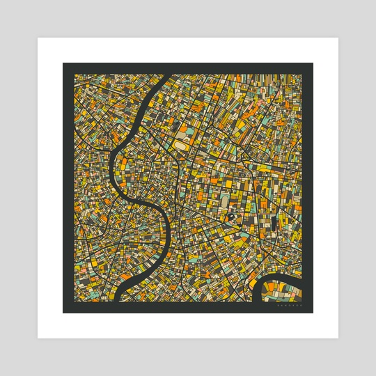 Bangkok Map 2 by Jazzberry Blue