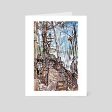 Mizzen View - Art Card by Angela Cosenzo