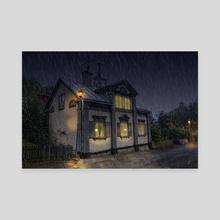 Rainy evening - Canvas by Stefan Demervall