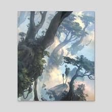MTG - Forest (ZNR) - Acrylic by Sam Burley