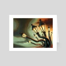 Drunk Streetlamps - Art Card by Remus Brailoiu