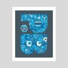 PB - Art Print by Chris Piascik