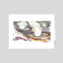 Anemone Geyser - Art Card by Emily Martin