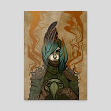 Plague Doctor - Acrylic by Alex Ayala