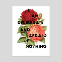 I Am Deliberate - Canvas by Alesia Fisher