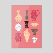 Ceramics - Pink - Acrylic by Joana Neves