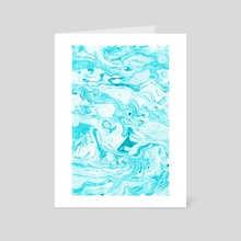 Ocean Blue Marble - Art Card by 83 Oranges