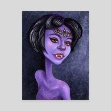 Violet  - Canvas by Kritzia LaRose