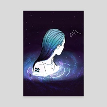Aquarius - Canvas by Priscila Zanette