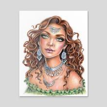 Esmeralda - Acrylic by Christine Karron