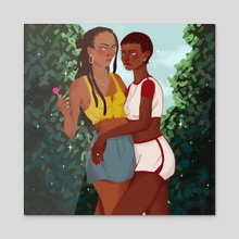 Sneaky Girlfriends - Acrylic by radi0karl