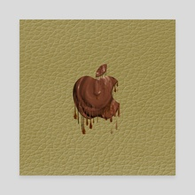 Melted Apple Chovolate - Canvas by Vidka Art