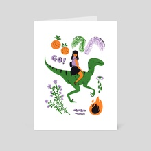 Going Out - Art Card by Emmi-Riikka