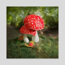 Mushroom Baby - Canvas by Sara Tarr