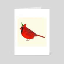 Party Cardinal - Art Card by Isabel Hughes