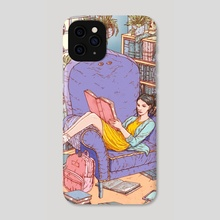summer reading/summer creeping - Phone Case by glenn harvey