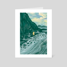 To Walk Beside the Archean Shore - Art Card by Lindsey Leigh