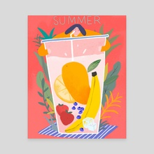 Summer milk shake  - Canvas by Jianan Liu
