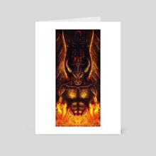 Fire Demon/Devil - Art Card by Lorenzo Loera
