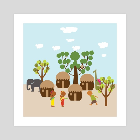 A village in Africa 1 by Michal Eyal