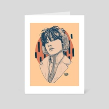 Taehyung Line Art - Art Card by iss.artsy