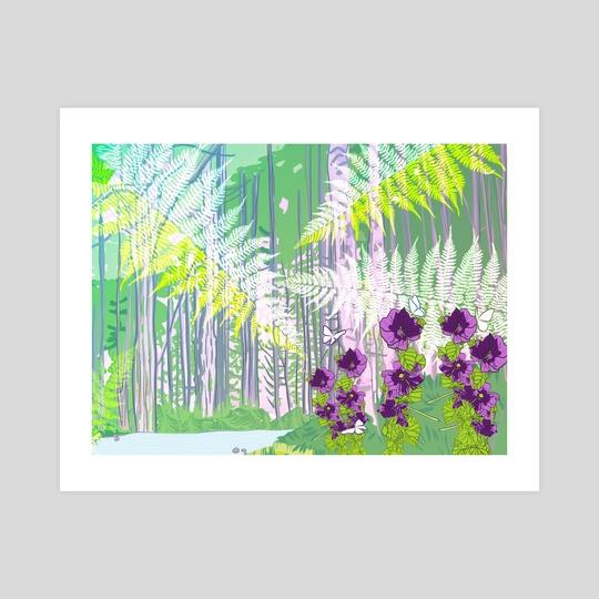 Serene Evergreen Scene by Jahla Brown