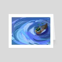 Duck & bambus - Art Card by Noëlle Kröger