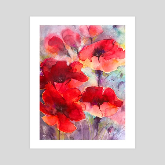 Abstract poppies by Alessandro Andreuccetti