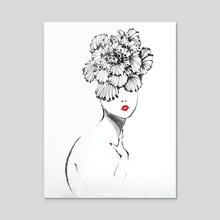 Hibiscus hat - Acrylic by Tei iji