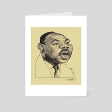 Martin Luther King Jr - Art Card by Priyatham Sri