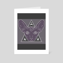 Sphynx - Art Card by Brena Karner
