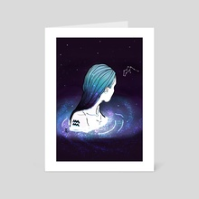 Aquarius - Art Card by Priscila Zanette