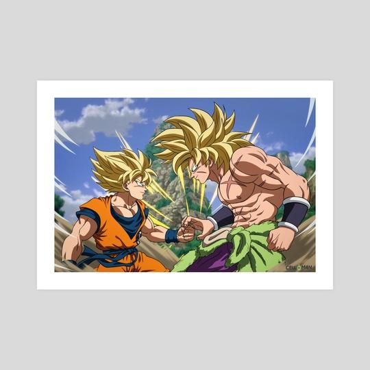 Goku Vs. Broly [SSJ] by Salman Ameer