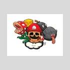 Mario - Art Print by Michael Venegas