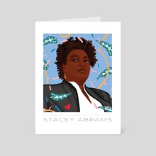 Stacey Abrams  - Art Card by Justine Swindell