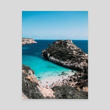 Mallorca - Acrylic by Solmaz Saberi