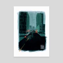 Gloomy - Canvas by Mona Negasi
